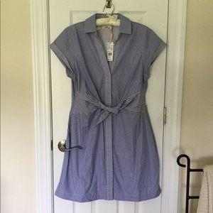 NWT Vineyard Vines Stripe Tie Front Shirt Dress